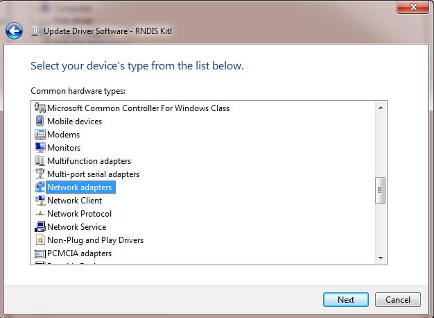 RNDIS windows 10 driver download