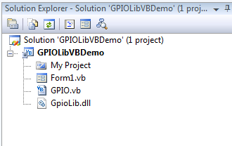 How to use GPIO library in VB net