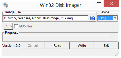 Win32 Disk Imager