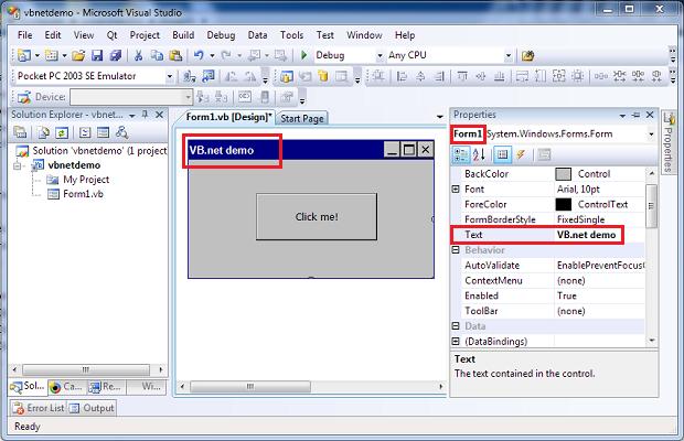 how to create ledger in vb net