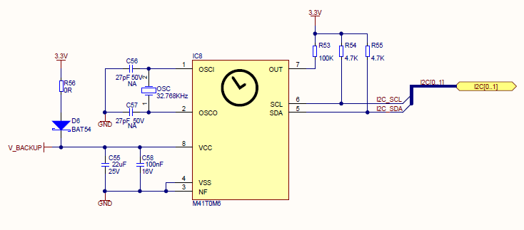 Pcf8573p I2c Real Time Clock Schematich