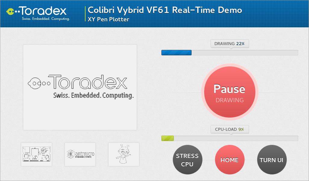 Colibri - VF61 Real-Time Demo - XY Pen Plotter