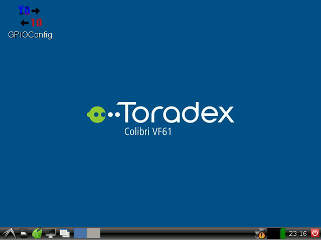 Toradex LXDE based Desktop