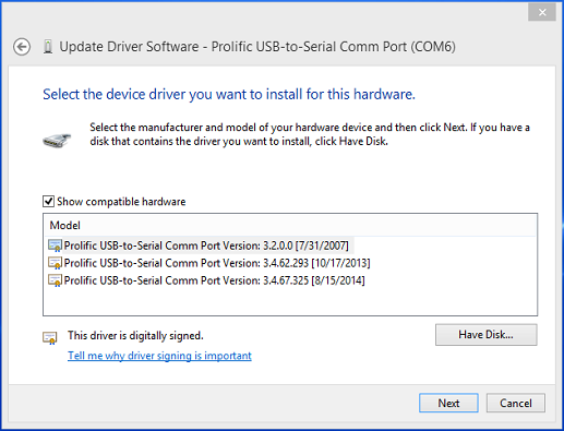 ASUS PROLIFIC USB-TO-SERIAL COMM PORT WINDOWS 8.1 DRIVER DOWNLOAD
