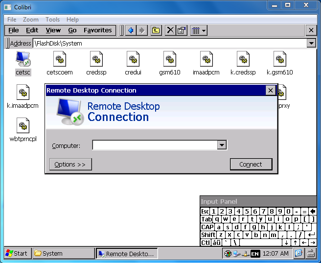 Remote Desktop Protocol (RDP) on Windows CE