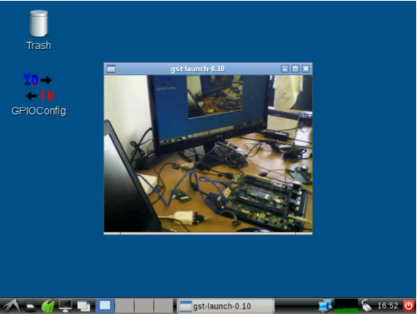 IP Camera streaming on module's screen
