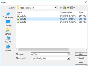 Select CFG file