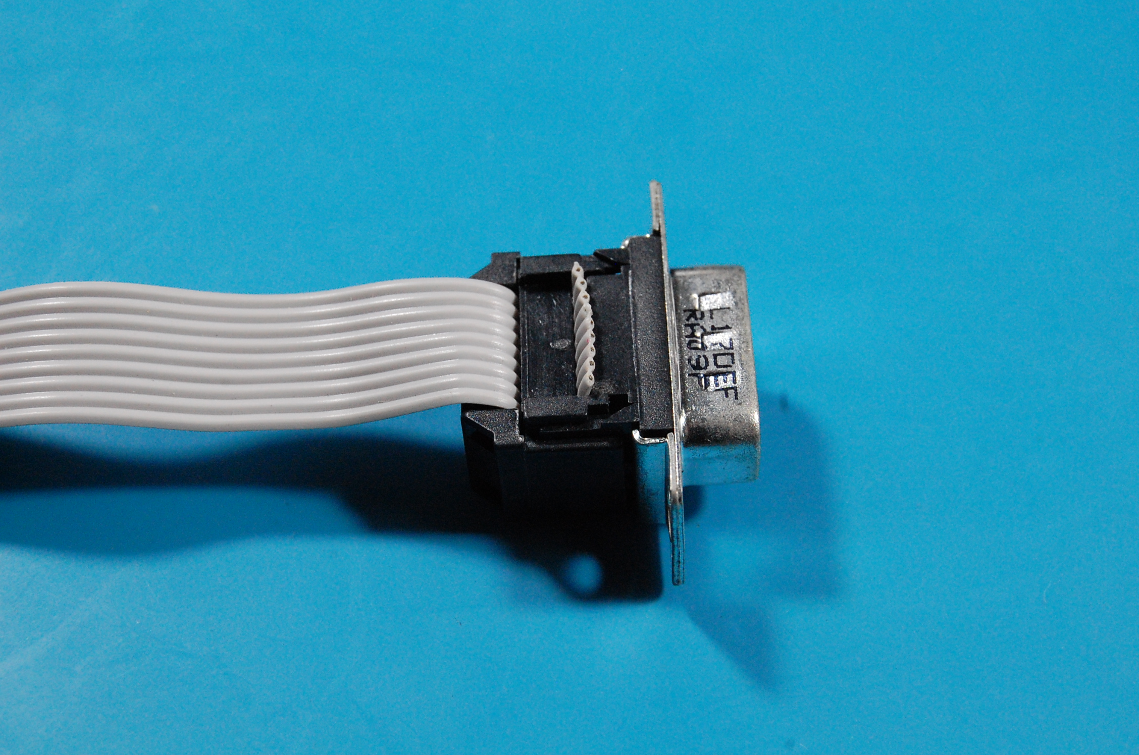 Crimped IDC to DB9 connector