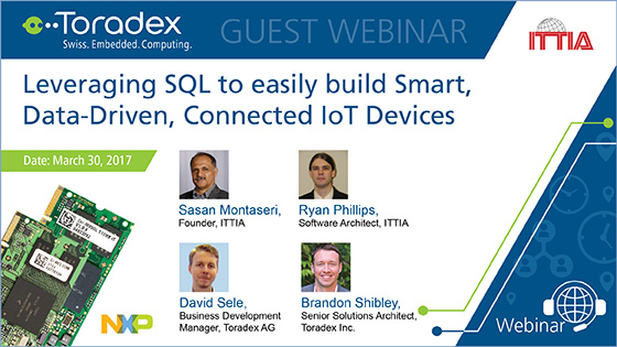 Leverage sql to build smart data driven iot devices Smart home architecture based on event driven dpws