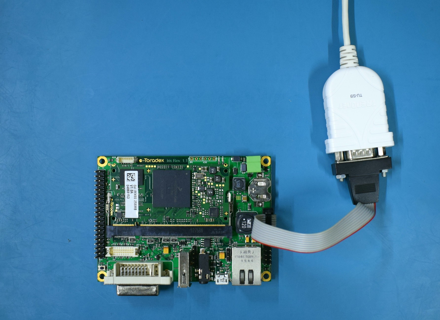 Serial setup for the Iris Carrier Board