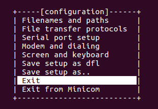 Serial terminal emulator configured