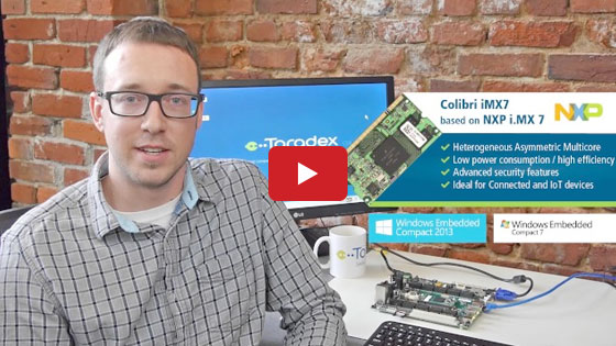Announcement of Windows Embedded Compact on Colibri i.MX7