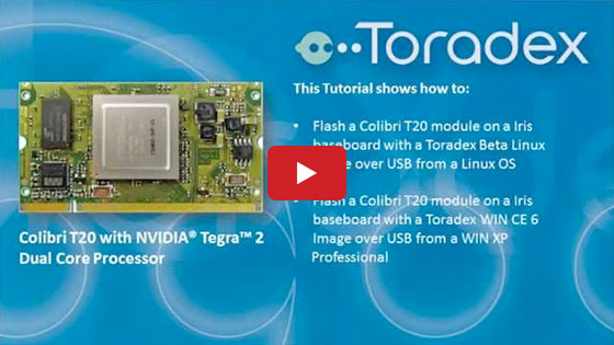 Toradex Colibri T20 flashing Linux and Win CE