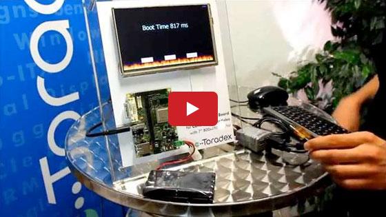 Toradex Colibri T20 Instant Boot Demo