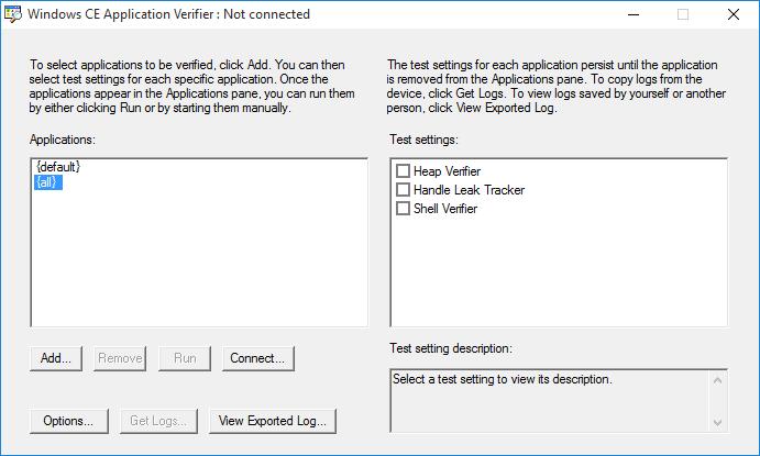 Memory Leak Detection (Windows CE)