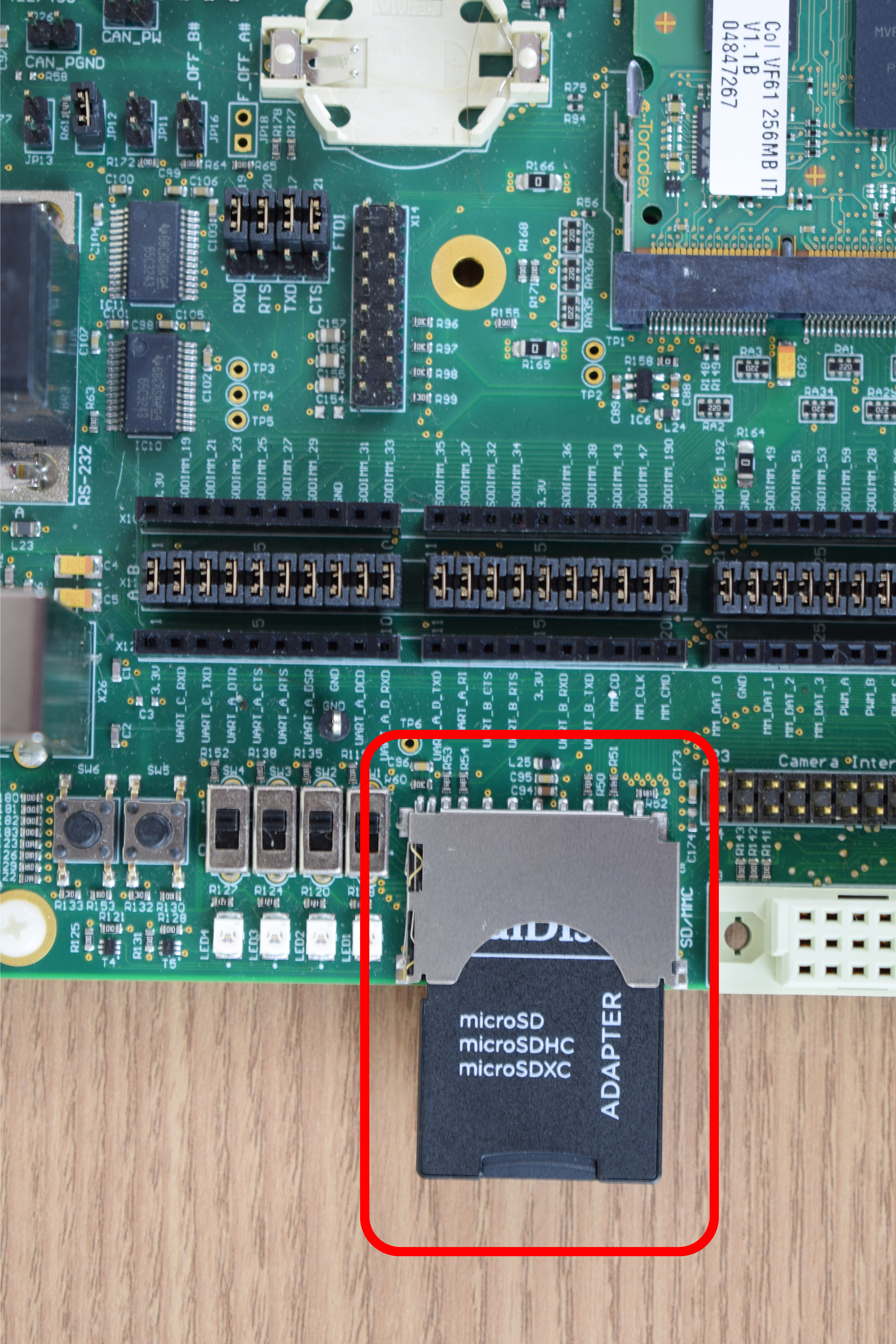 SD card slot highlighted