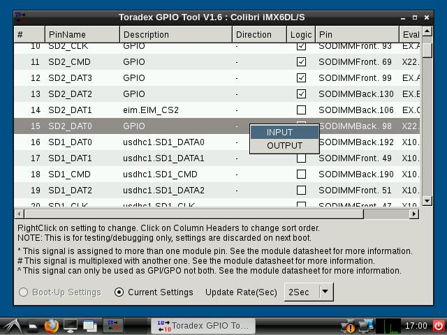Basic GPIO usage - Colibri Evaluation Board - Colibri iMX6