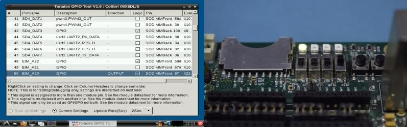 Basic GPIO usage - Colibri Evaluation Board - Colibri iMX6ULL