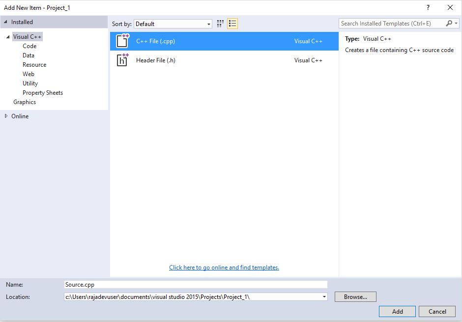Setting up Development Environment with Visual Studio 2015