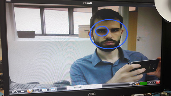 Face and eye tracking application