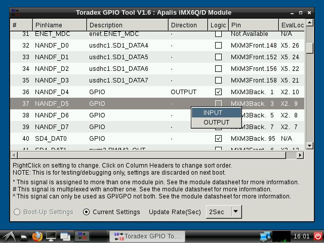 Configuring MXM3 pin