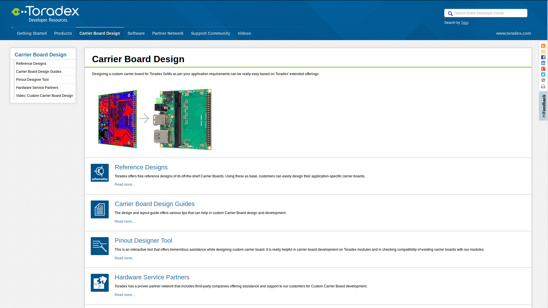Carrier Board Design tab