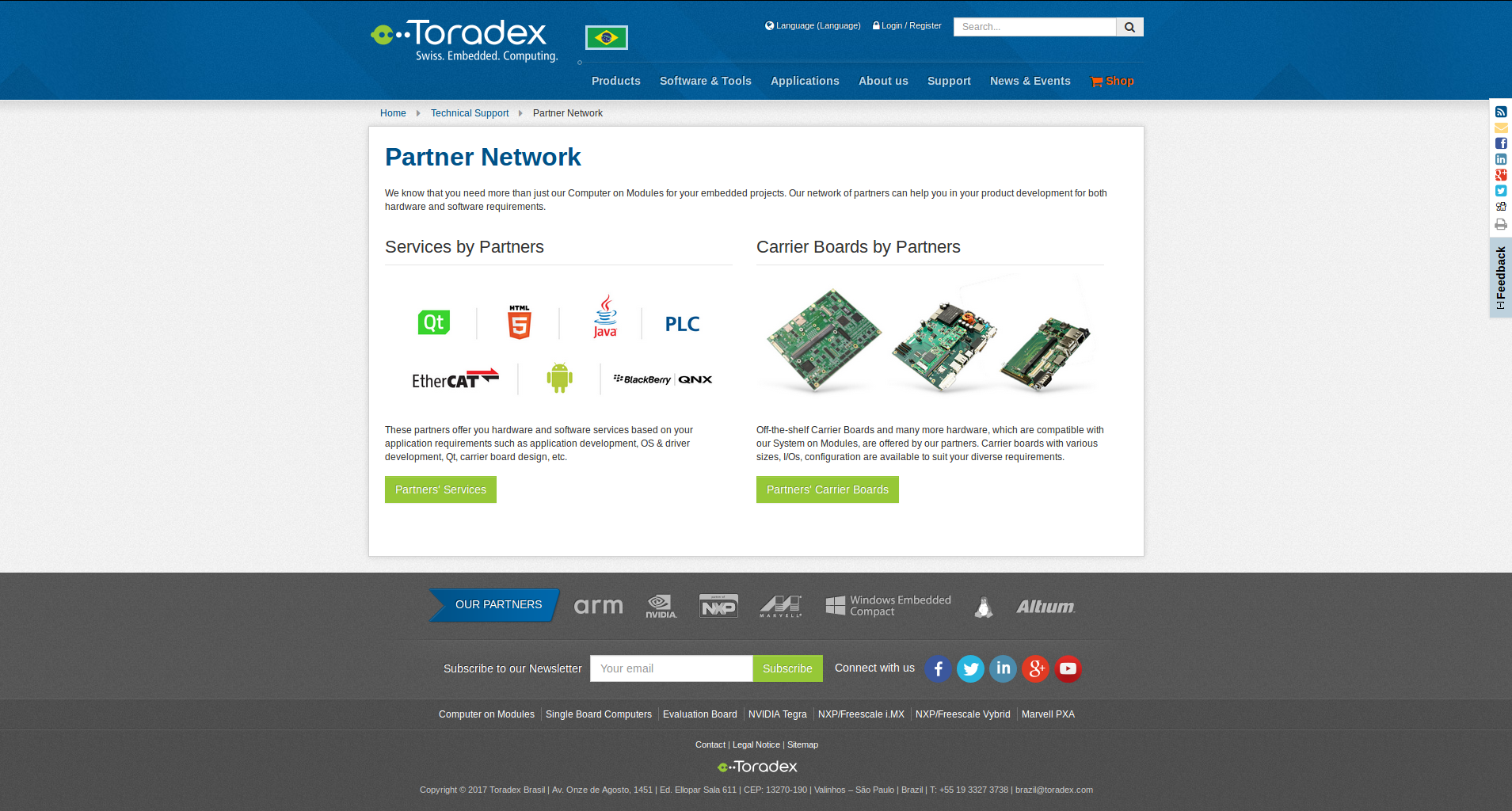 Partner Network page