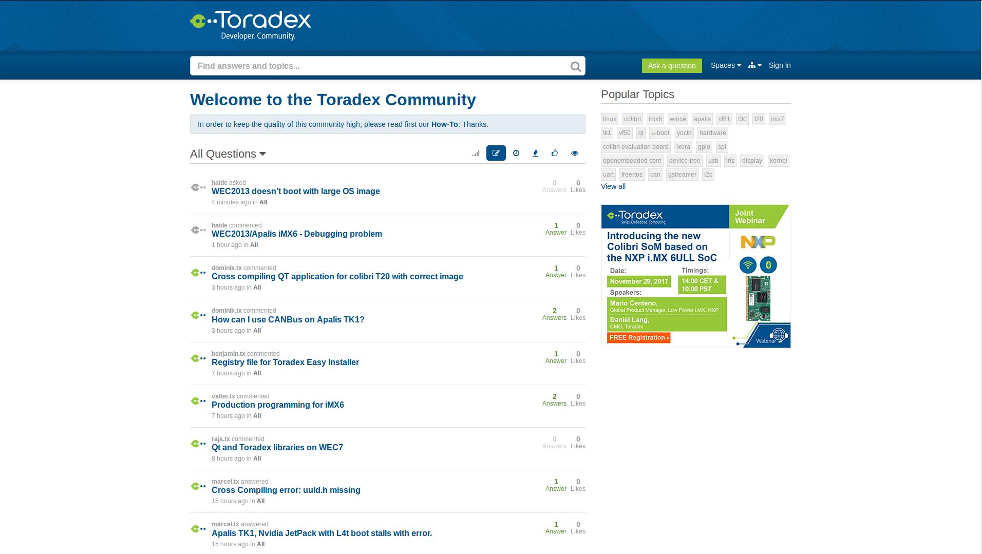 Toradex Community