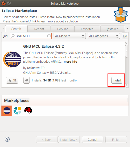 Eclipse Marketplace search and install