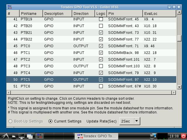 Basic GPIO usage - Iris Carrier Board - Colibri iMX6ULL