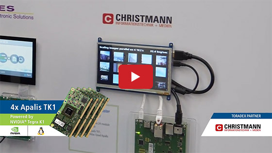 Christmann RECS|Box Anteres on Toradex TK1 module