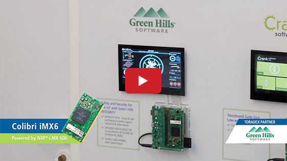 Green Hills Software's INTEGRITY RTOS on Toradex's Colibri SoM