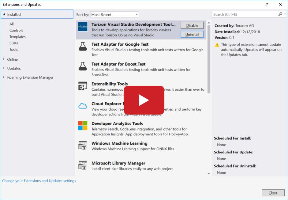 Torizon Microsoft Environment - Visual Studio,  Net, OTA