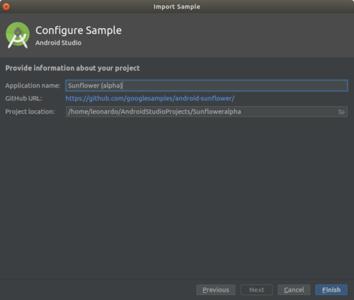 Configure sample