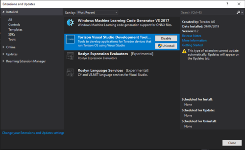 Torizon Microsoft Environment Extension