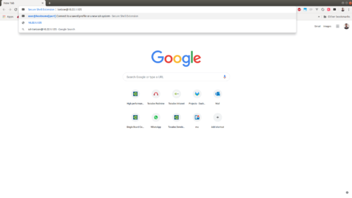 Secure Shell Extension for Google Chrome - Run