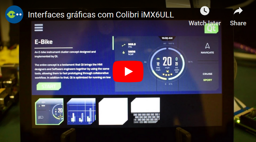 Graphic Interfaces with Colibri iMX6ULL