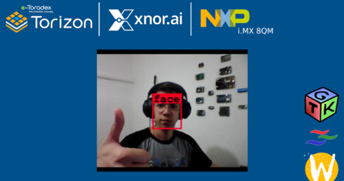 XNOR.ai AI2GO Demo running