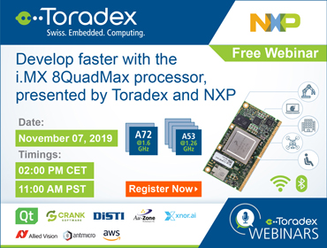 Develop faster with the i.MX 8QuadMax processor, presented by Toradex and NXP