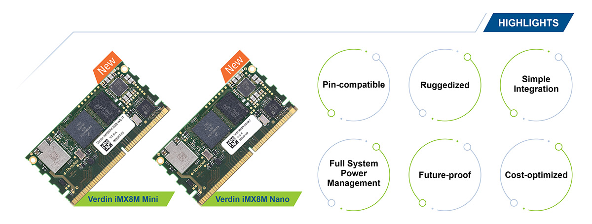 Verdin iMX8M System on Module - USPs