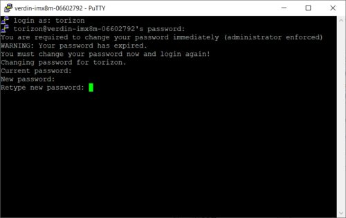 PuTTY Login for the First Time