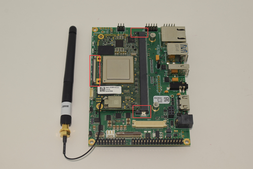 Computer on Module connected to the Ixora Carrier Board