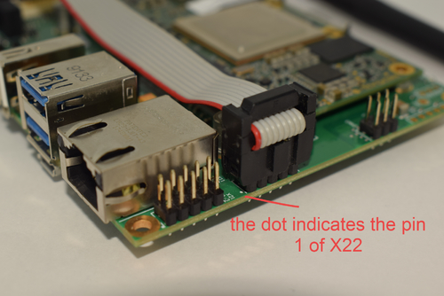 IDC header connected to the Ixora Carrier Board