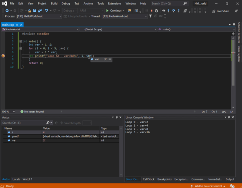 Debugging Torizon Application on Visual Studio