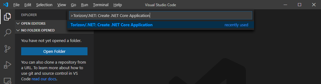 Creating a .NET Core Application