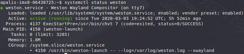 Weston service OK (green)