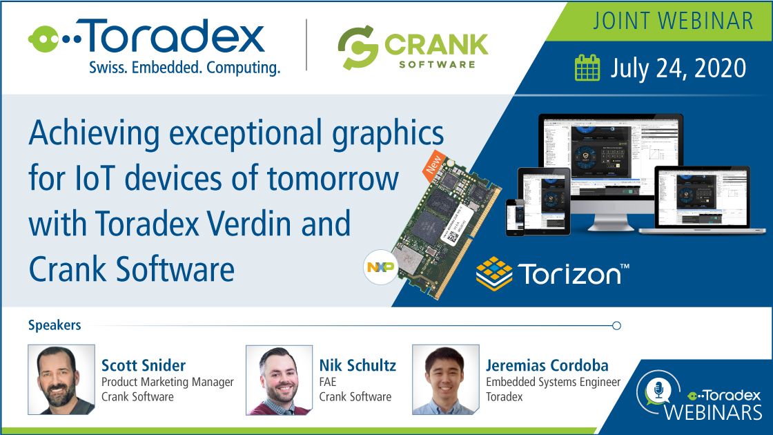 Achieving exceptional graphics for IoT devices of tomorrow with Toradex Verdin and Crank Software