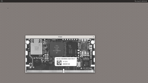 The OpenCV example loading an image in grayscale mode