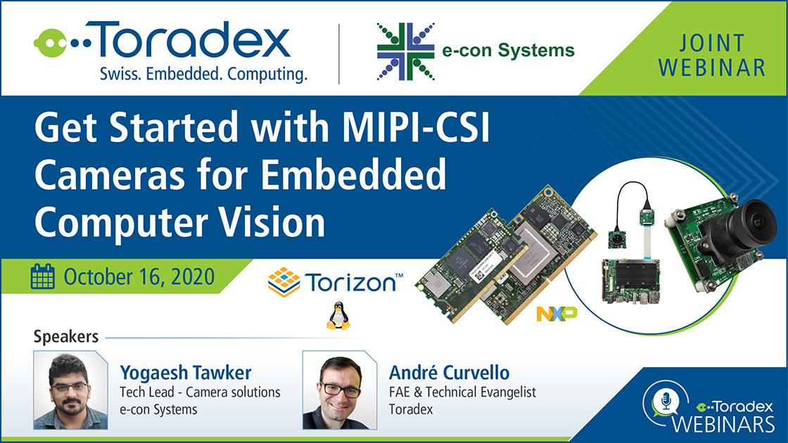 Get Started with MIPI-CSI Cameras for Embedded Computer Vision