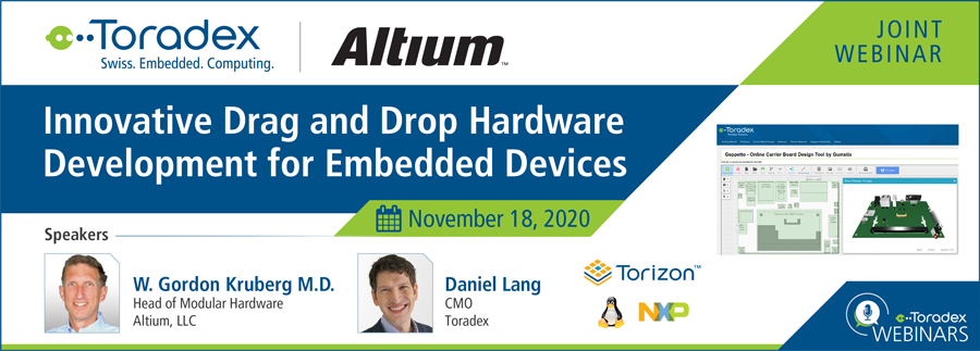 Webinar with Altium: Innovative Drag and Drop Hardware Development for Embedded Devices